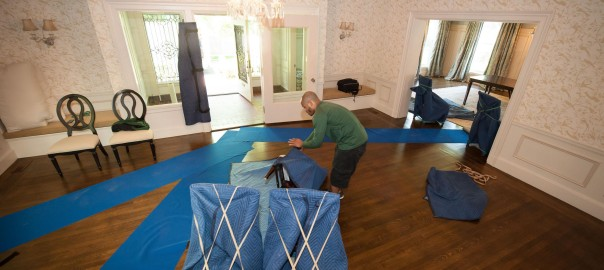 Mover pad-wrapping home items