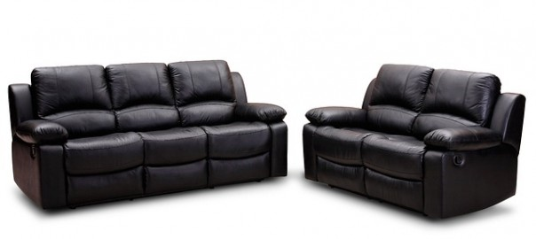 leather couch and leather love seat