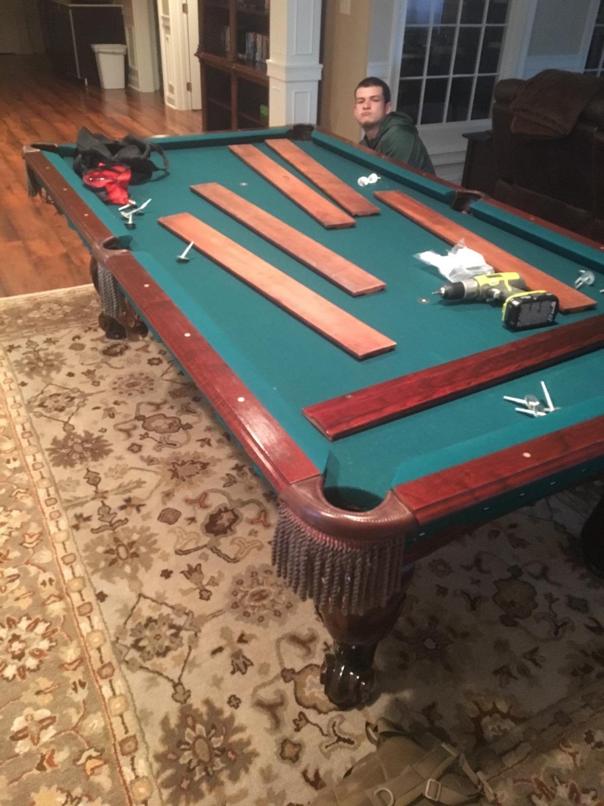 disassembling a pool table