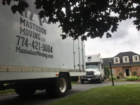 Mastodon Moving truck at residence