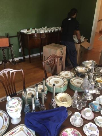 movers packing fine china