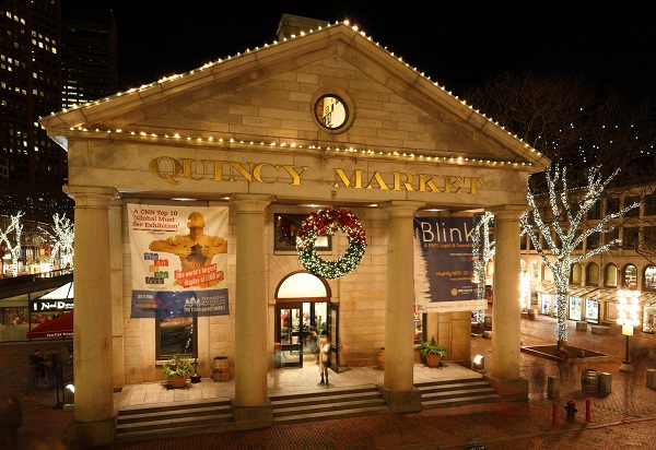 Quincy Market during Christmas time