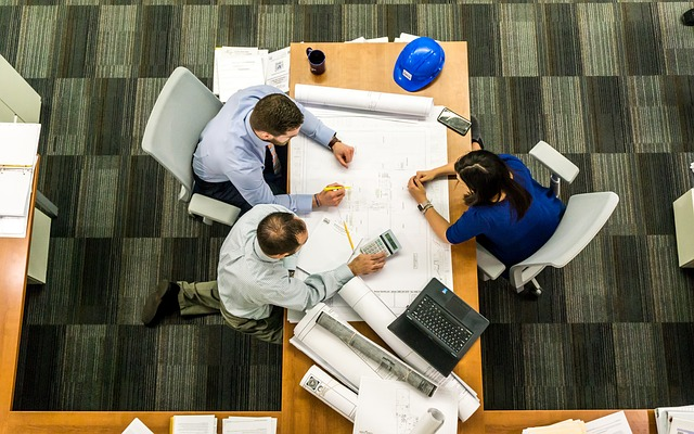 coworkers working at a table