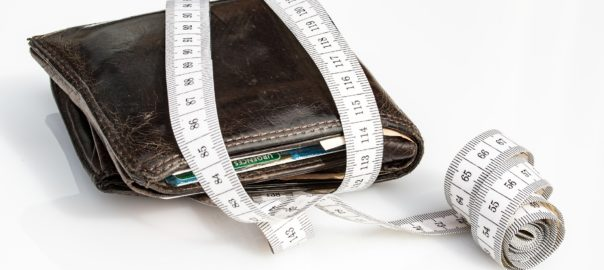wallet with a tape measure